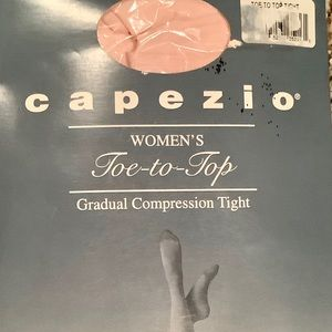 Capezio Toe to Top Ballet Pink Compression Tight L